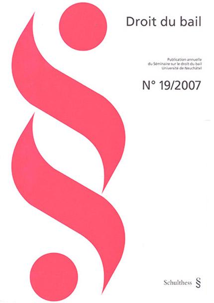Revue Droit du bail 19/2007