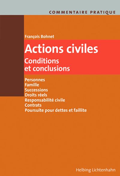 Commentaire pratique Actions civiles