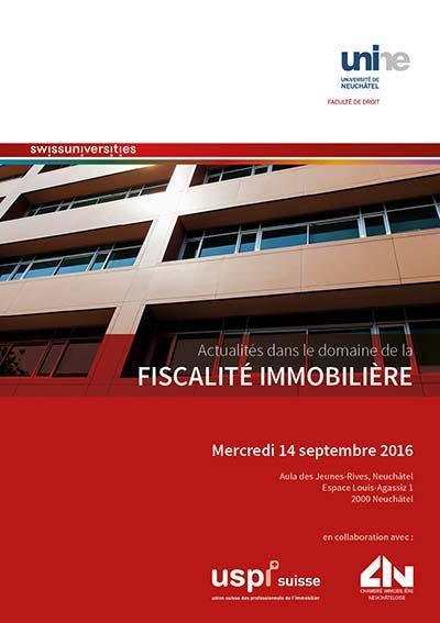 Actualités dans le domaine de la fiscalité immobilière - Mercredi 14 septembre 2016