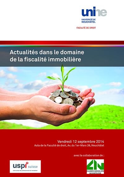 Vendredi 12 septembre 2014 - Actualités dans le domaine de la fiscalité immobilière