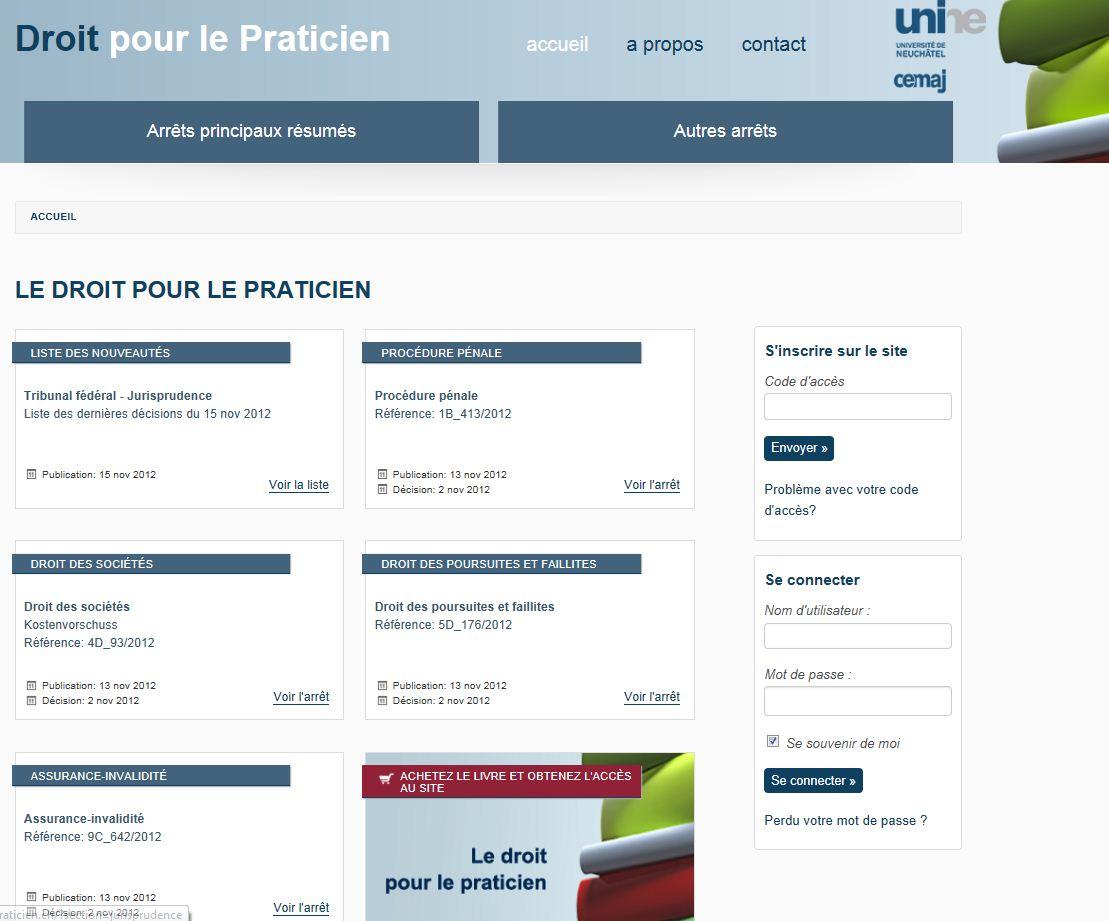 www.droitpraticien.ch